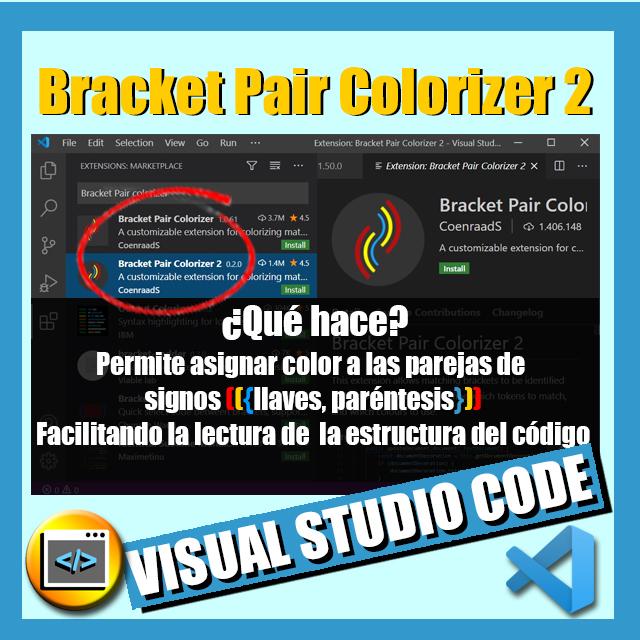 imagen extension vs code bracket pair colorizer