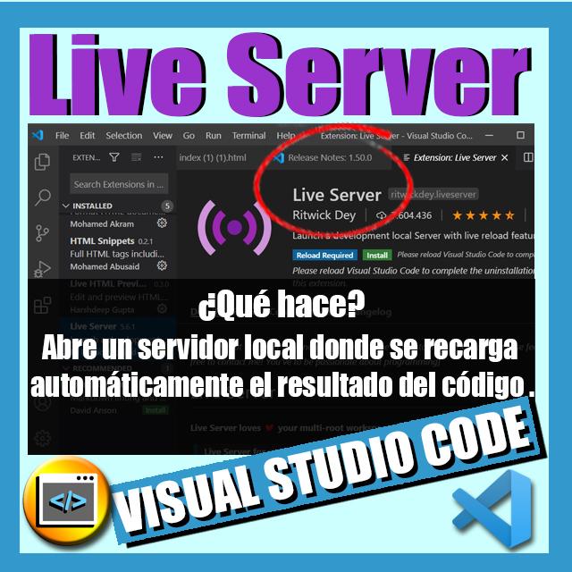 imagen extension vscode live server