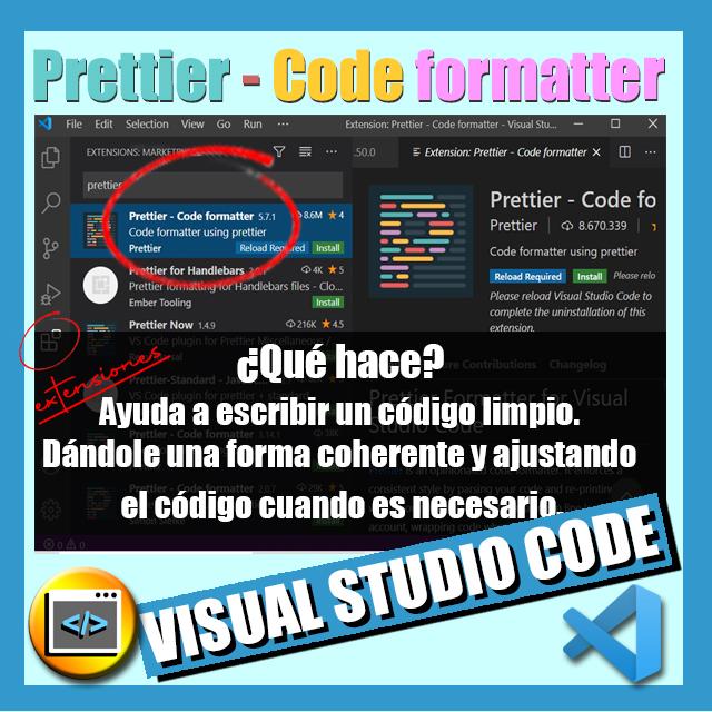 imagen extension vscode prettier